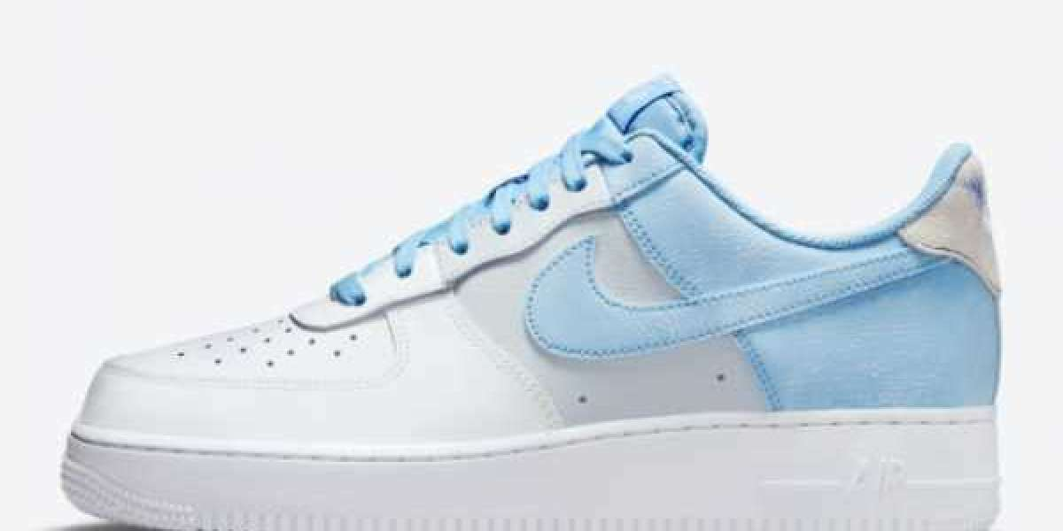"""These Nike Air Force 1 Low """"Psychic Blue"""" CZ0337-400 shoes are super refreshing!"""