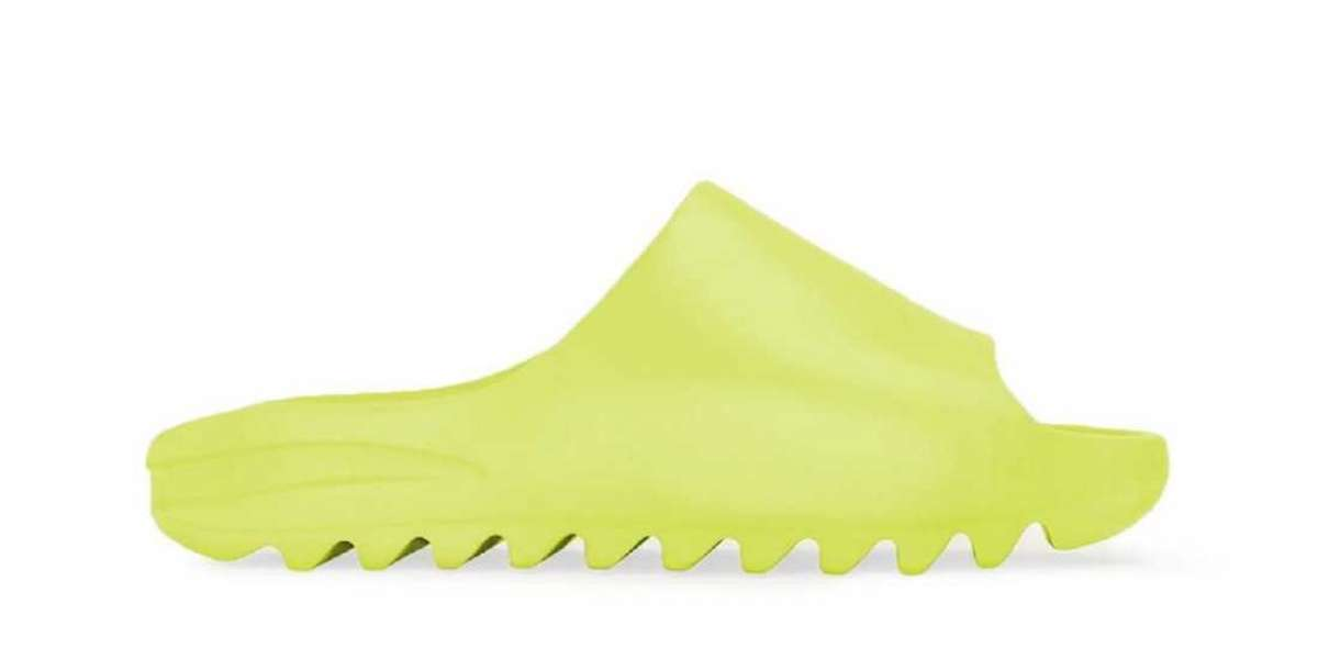 """New Release 2021 adidas Yeezy Slide """"Glow Green"""" will beleased later"""