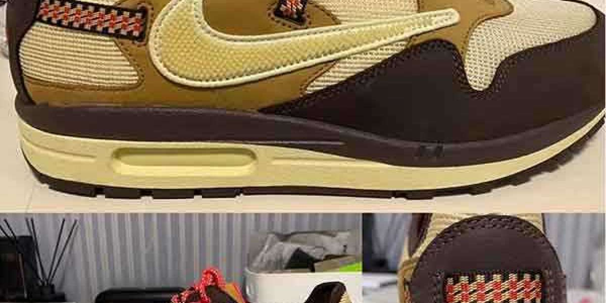 "Brand New Travis Scott x Nike Air Max 1 ""Cactus Jack"" Sneakers"