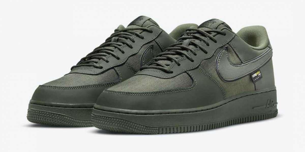"DO6701-300 Nike Air Force 1 Cordura ""Cargo Khaki"" Sneakers"